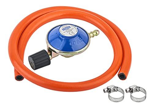N\C Campingaz - Regulador de gas tipo manguera de 1 m y 2 clips para barbacoas, cocinas de camping para 907,904, 901
