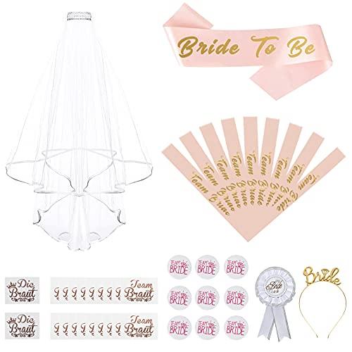 FORMIZON 42 Piezas Despedida de Soltera Decorations, Rosa Dorado Bride to Be...
