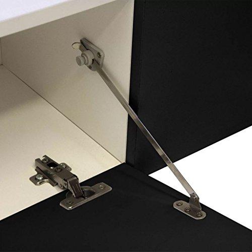 vidaXL Hochglanz Mediawand Wohnwand LED TV-Wand schwarz 169,2 cm - 7