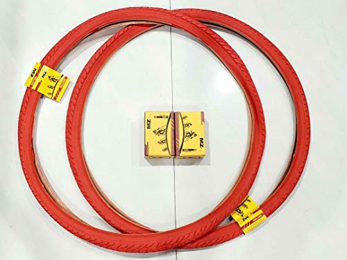 MZ PARTS MIAMI 700X38 TIRE (40-622) Bicycle Street Tires and Inner Tubes (RED/2)