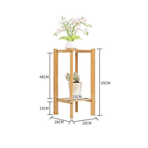 HAOT Blumentopfständer Innen- 3-stufiger Blumenständer Pflanzenständer Multi Holzregale Bonsai Montage Display Regal für Außenregal Patio Garten Ecke Balkon Wohnzimmer (Größe: 28CM X65CM)