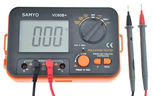 VC60B+ Digital Insulation Resistance Tester DCV ACV Meter Megohmmeter Megohm with Test Lead