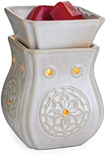 CANDLE WARMERS ETC. Midsized Illumination Fragrance Warmer- Light-Up Warmer for Warming Scented Candle Wax Melts and Tarts or Essential Oils to Freshen Room, Insignia