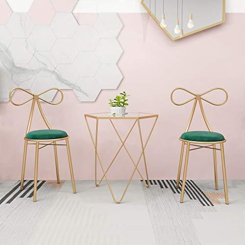 C-J-Xin Inicio Mesa de café, Salón de Belleza Lado Tablas niñas Dormitorio Vestir heces Sala de Estar Moderna Mesa Lateral...