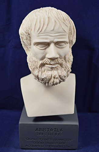 Aristoteles Skulptur Antike Griechische Philosoph Museum Reproduktion Brustumfang