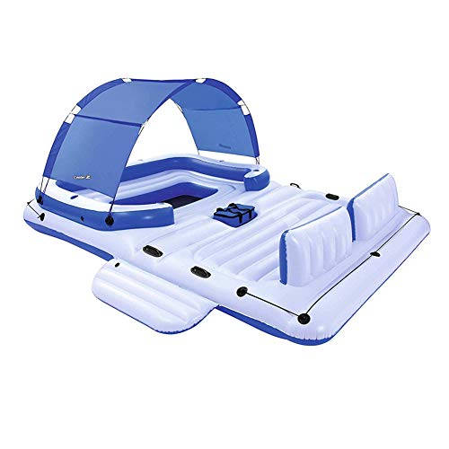 154'*112' Giant Float, Inflatable Pleasure Party Island, Floating Pool Lake Raft Lounge Boat,8 To 10 People, Fits Adults Lake Island Ocean Pool Loungers