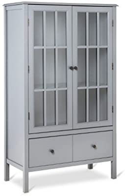 Amazon Com Altra Bookcase With Sliding Glass Doors White Kitchen Amp Dining