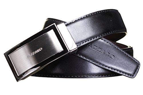 AZZARO - Ceinture 21165 Reversible Noir/Marron - Couleur Noir - Taille Ajustable