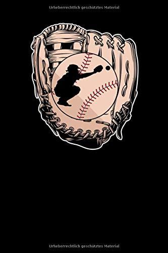 Notizbuch: Baseball Handschuh Softball Baseball Fänger Notizbuch DIN A5 120 Seiten für Notizen, Zeichnungen, Formeln | Organizer Schreibheft Planer Tagebuch