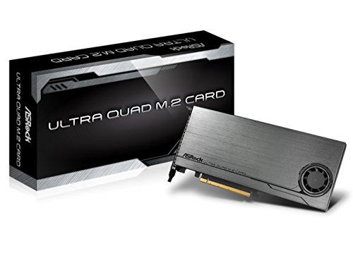 ASRock Ultra Quad m.2Card–Controller-Karte 4x SSD m.2PCI-E 4x–Bus PCI-Express 16x 3.0(Kategorie: Karte Controller)