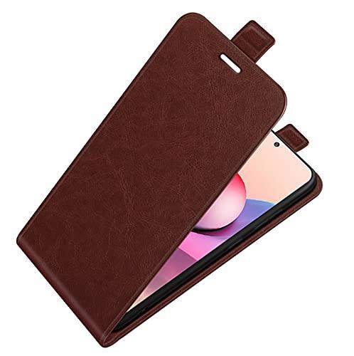 LONGSAND Compatible con Huawei P50 / P50 Pro Conexión telefónica de Cuero PU + TPU Funda Protectora para Mujer para Mujer Moderna Smaca Simple Shell con Slots De Tarjetas,Marrón,P50