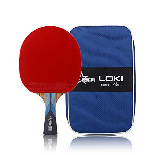 Save %50 Now! Loki Star Series 5 Star Table Tennis Racket - Intermediate and Advanced Ping Pong Rack...