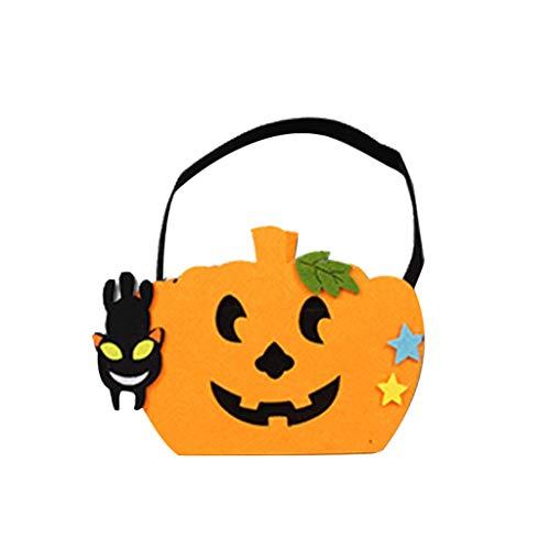 xmansky Für Weihnachten Halloween Party, Zuhause, Kamin, Hotel, Bar,Halloween-Kürbis-Tasche Neue tragbare lustige Dress Up kleine Accessoires Candy Bag