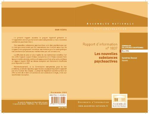 Couverture du livre Rapport d'information sur les nouvelles substances psychoactives