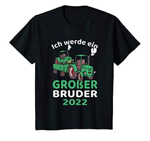 Kinder Großer Bruder 2022 Traktor Ich werde Großer Bruder T-Shirt