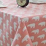 Mantel de Oso Polar Rosa Moderno, pequeño, Fresco, Mesa de jardín, Mantel de Mesa de Centro de Hotel, 140x200cm como se Muestra
