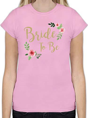 JGA Junggesellinnenabschied - Bride to Be - M - Rosa - L191 - Tailliertes Tshirt für Damen und Frauen T-Shirt
