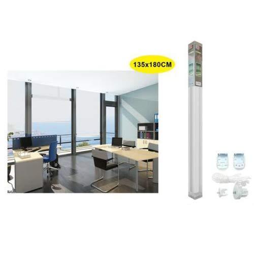 REAL STAR Estor Enrollable translúcido Liso (Blanco, 135x180cm)