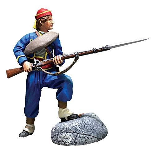 W.Britains American Civil War 31296 146th New York Federal Zouave Standing Defending No.1 1:30 Scale Pewter