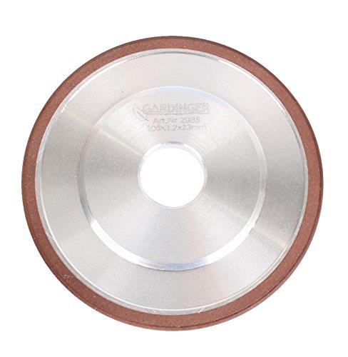 GARDINGER Diamant-Schleifscheibe für Sägekettenschärfgeräte 108 x 3,2 x 23 mm (Diamantscheibe Schleifscheibe)