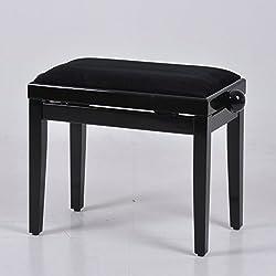 Klavierbank Klavierhocker Klavier Bank Pianobank Stuhl Hochglanzlack Piano schwarz 51000-D01