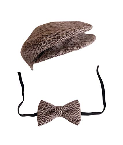 Lppgrace Newborn Baby Photography Photo Props Boy Girl Costume Outfits Hat Tie Set (Coffee)