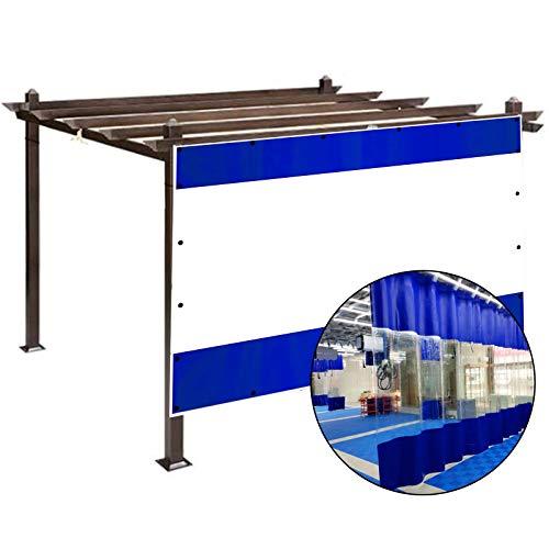 GDMING Transparente Lona De PVC, Impermeable Tarea Pesada Cortina Al Aire Libre, A Prueba De Lluvia Kiosko con Ojales para Patio Jardín Tienda Fácil De Usar, Tamaño Personalizado