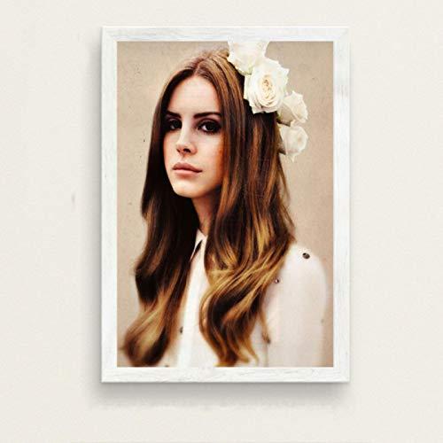 lubenwei Lana Del Rey Music Singer Model Canvas Poster Prints Photo Portrait Pictures Bar Cafe Wall Art Home Decor Mural 40x50cm No frame (WA-2750)