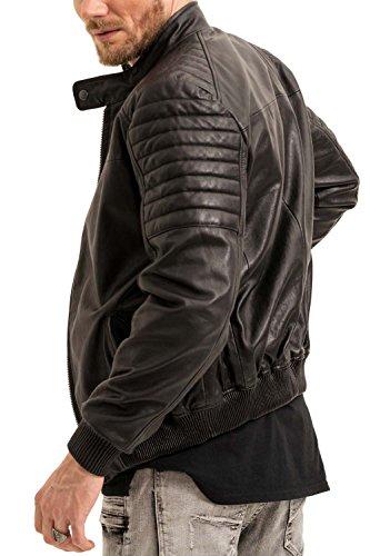trueprodigy Casual Herren Marken Lederjacke echt Leder, Herrenjacke cool und stylisch Vintage (sportlich & Slim Fit), Jacke für Männer in Farbe: Schwarz 3773105-2999-XXL