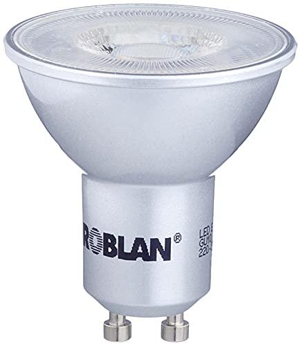 Roblan ECOSKY C60 GU10 ampoule, 6W, Couleur Aluminium