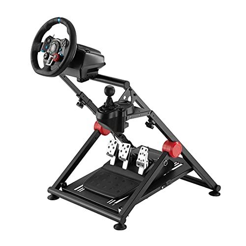 WHEEL STAND GT PRO - Supporto universale per volante, guarnitura e cambio compatibile con tutti i prodotti Logitech, Thrustmaster e Fanatec. Progettato da simracing professionisti.