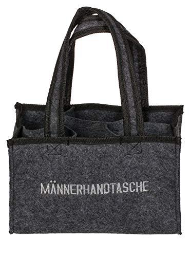 Out of the Blue 713163 - Männerhandtasche aus Filz mit 6 Fächern, ca. 24 x 15 cm