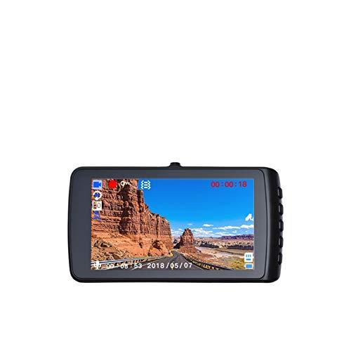 KOLOSM Cámara De Coche Cámara de Coche Full HD Video Recorder Registrador automático Dashboard Dual Dashcam (Color Name : No Rearview Camera, SD Card Memory : 32G)