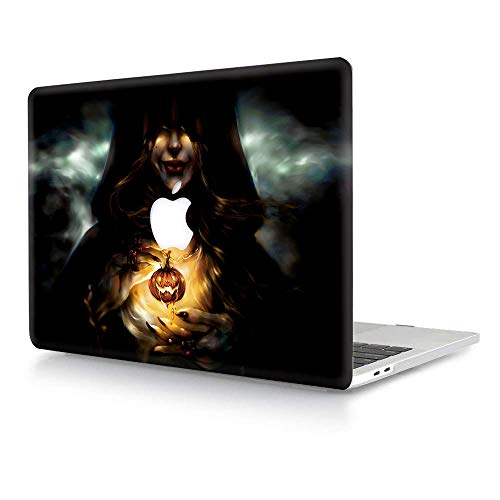 MacBook Pro 15 inch Case 2019 2018 2017 2016 Release A1990 A1707, AJYX Hard Plastic Shell Cover for Newest MacBook Pro 15 with Touch Bar - Terrifying Pumpkin