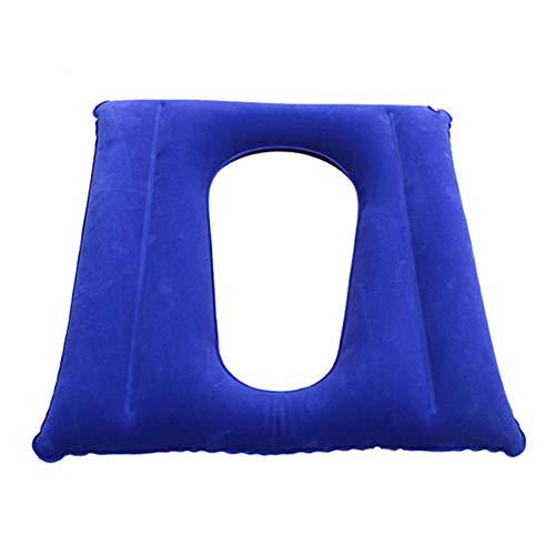 ZCPDP Toilettensitz Aufblasbare Anti-Dekubitus-Kissen Unterstützung Hüfte Atmungsaktive Anti-Druck-Wunde Behinderte Luftkissen Rollstuhl Butt Pad