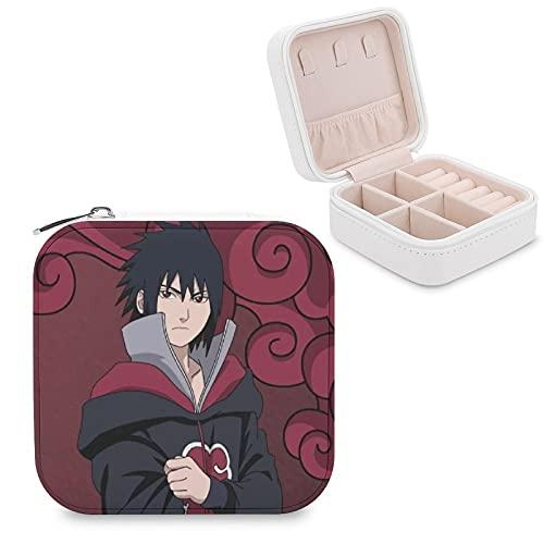 Uchiha Sasuke - Joyero de piel sintética, portátil, para collares, pendientes, pulseras, anillos, relojes, expositores, cajas de joyería para mujeres