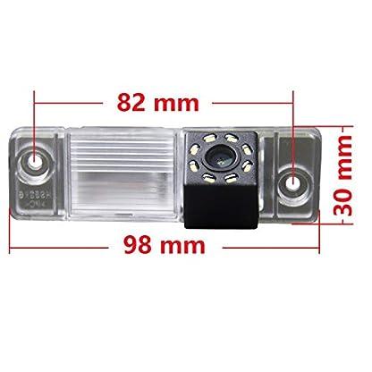 HD-720p-Farb-Rueckfahrkamera-integriert-in-die-Kennzeichenbeleuchtung-Kamera-Einparkhilfe-mit-Distanzlinien-fuer-Opel-Antara-2008-2015