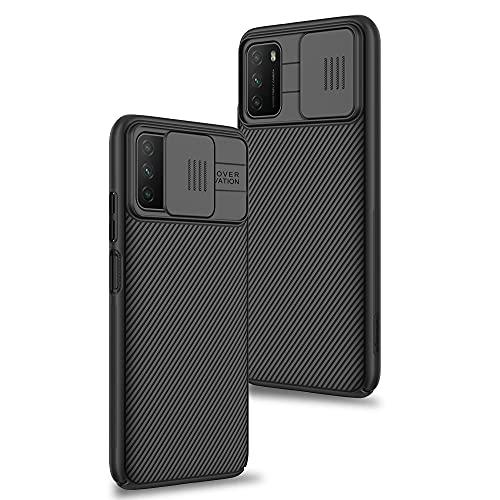 Funda para Xiaomi Poco M3, Protección de la cámara Carcasa Cubierta de cámara Deslizante Proteger Ultra-Delgado Híbrida PC Anti-Choque Anti-arañazos - Negro