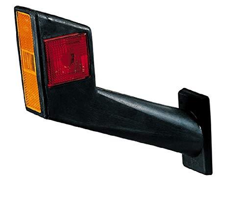 HELLA 2XS 955 260-001 Umrissleuchte - R5W - Lichtscheibenfarbe: glasklar/rot/weiß - Anbau - Einbauort: seitlicher Anbau