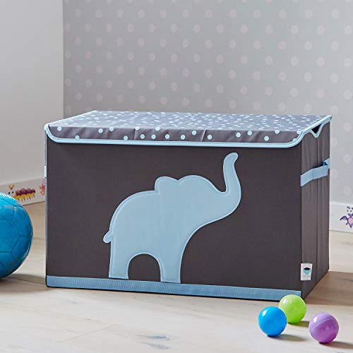 Store It 670384 Spielzeugtruhe, blauem, Polyester, Elefant - grau/hellblau, 62 x 37,5 x 39 cm - 5