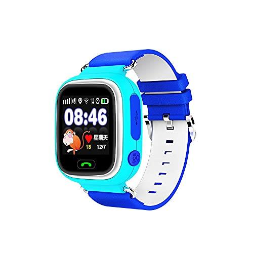 ZAKRLYB Kids Smart Watch Talk bidireccional Cinco Reposicionamiento 72 Horas Long Battery Life One-Lleve Llamada para Ayuda Micro Chat, Regalo de la Pantalla táctil Anti-perdida (Color : Azul)