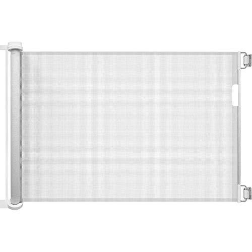Callowesse® AIR - Barrera de Seguridad Enrollable/Extensible para Puertas y Escaleras 0-130 cm (110cm si se usa como una Barrera para Niños) - Color: Blanco
