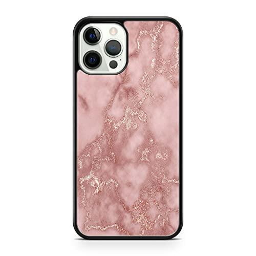 Cover per telefono con motivo decorativo in marmo rosa e pietra rocciosa, modello di telefono compatibile con Apple iPhone 6S Plus
