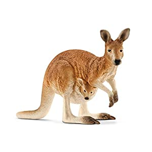 SCHLEICH Wild Life Kangaroo Educational Figurine for Kids Ages 3-8 - 410WTQRiALL - SCHLEICH Wild Life, Animal Figurine, Animal Toys for Boys and Girls 3-8 Years Old, Kangaroo