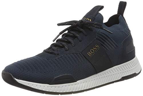 Hugo Boss Herren Titanium_runn_knst Sneaker, Dark Blue407, 43 EU