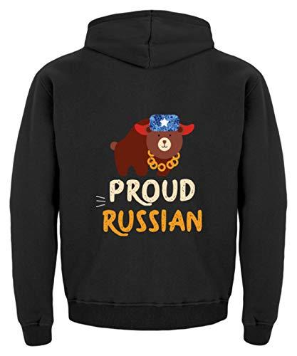 Schuhboutique Doris Finke UG (haftungsbeschränkt) Russia Proud Russian Russian Bear Kinder Hoodie 34 (98104) Jet Schwarz