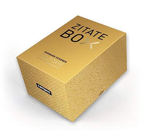 Goldene Zitate-Box: 200 Zitate im Postkartenformat
