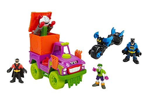Imaginext DC Super Friends Joker Gift Set - Includes Batman, Robin Joker and 2 Vehicles
