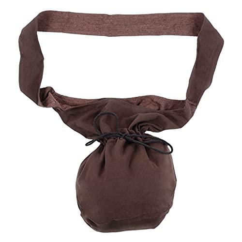 HEMAD Mittelalter Umhänge-Tasche Baumwolle/Leinenlook Mittelalterliche Kleidung braun
