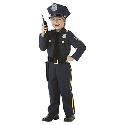 AMSCAN Classic Police Officer Halloween Costume for Toddler Boys, 3-4T, with Included Accessories